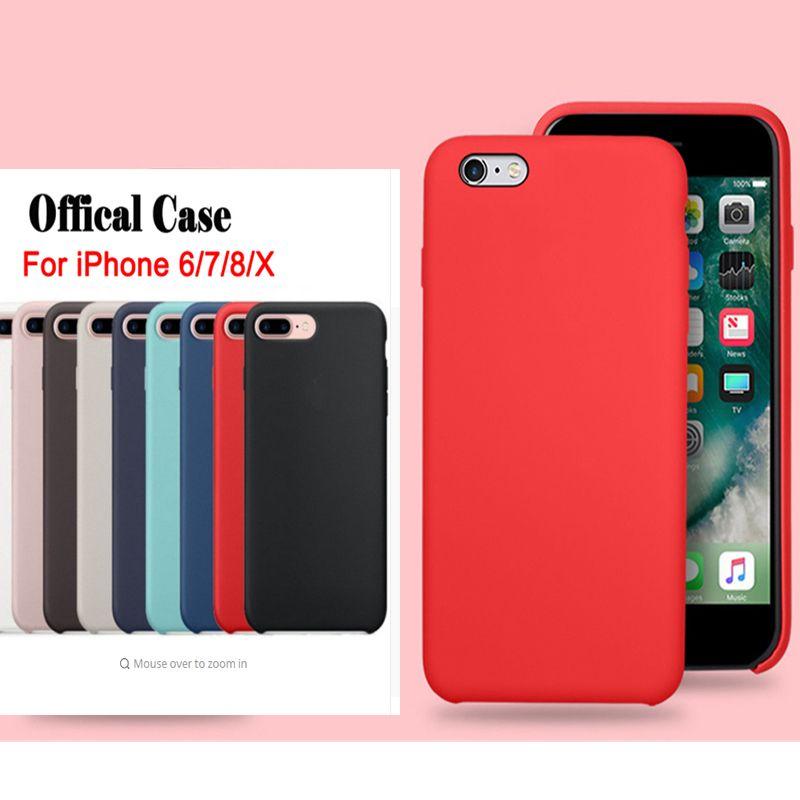 5fefbe0a857 Fundas De Celulares Personalizadas Tiene LOGO Fundas De Silicona Originales Para  IPhone 6 7 8 Plus Funda De Silicona Líquida Para IPhone X XR XS Max Con ...