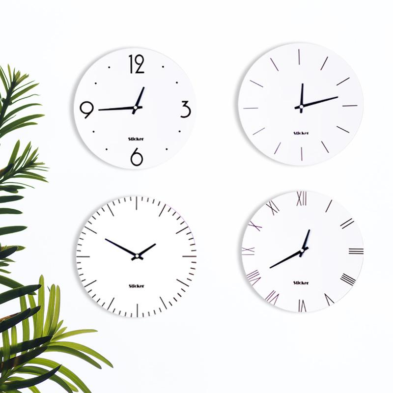 36 wall clock rustic 11 inch nordic minimalist wall clock vogue roman numeral white home round interesting clocks for sale from merlle