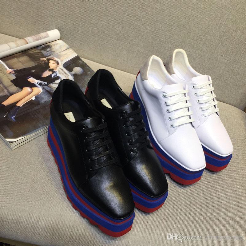 9cd04863e46f08 Stella Mccartney Designer Di Lusso Lady Britannica In Pelle Di Alta Qualità  Piattaforma Di Moda Sneakers Con Zeppa Suola Spessa Scarpe Casual Singolo A  ...