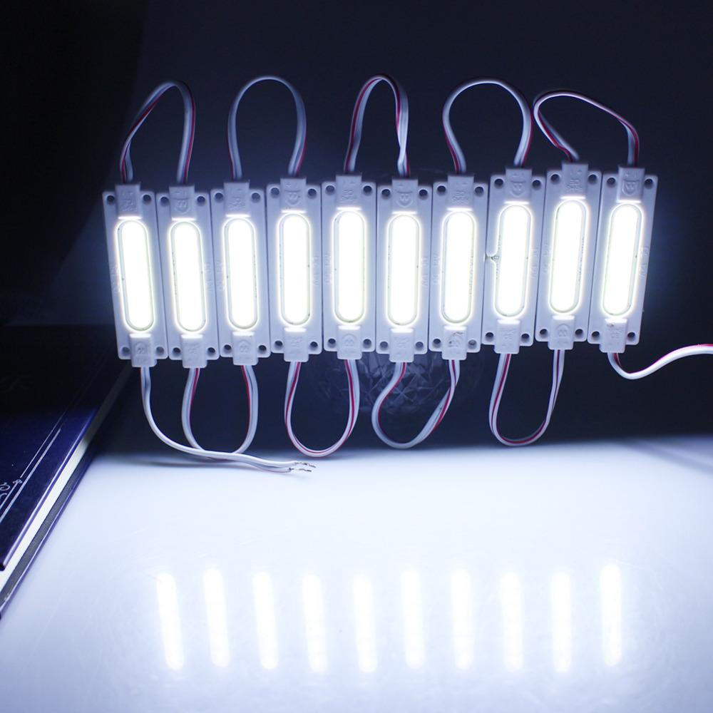 led COB module Light Advertising lamp 2W IP65 Waterproof DC12V safe led background light warm white/red/blue