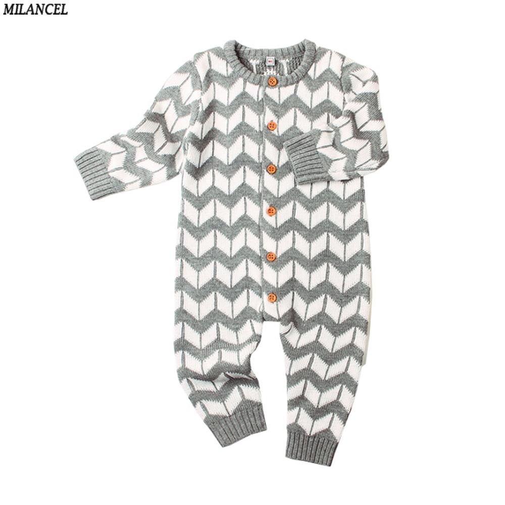 efe9588c2064 2019 MILANCEL 2018 Girls Rompers Knitted Baby Boys Rompers Casual Baby  Clothing Long Sleeve Boys Jumpsuits Solid Clothes From Vanilla14