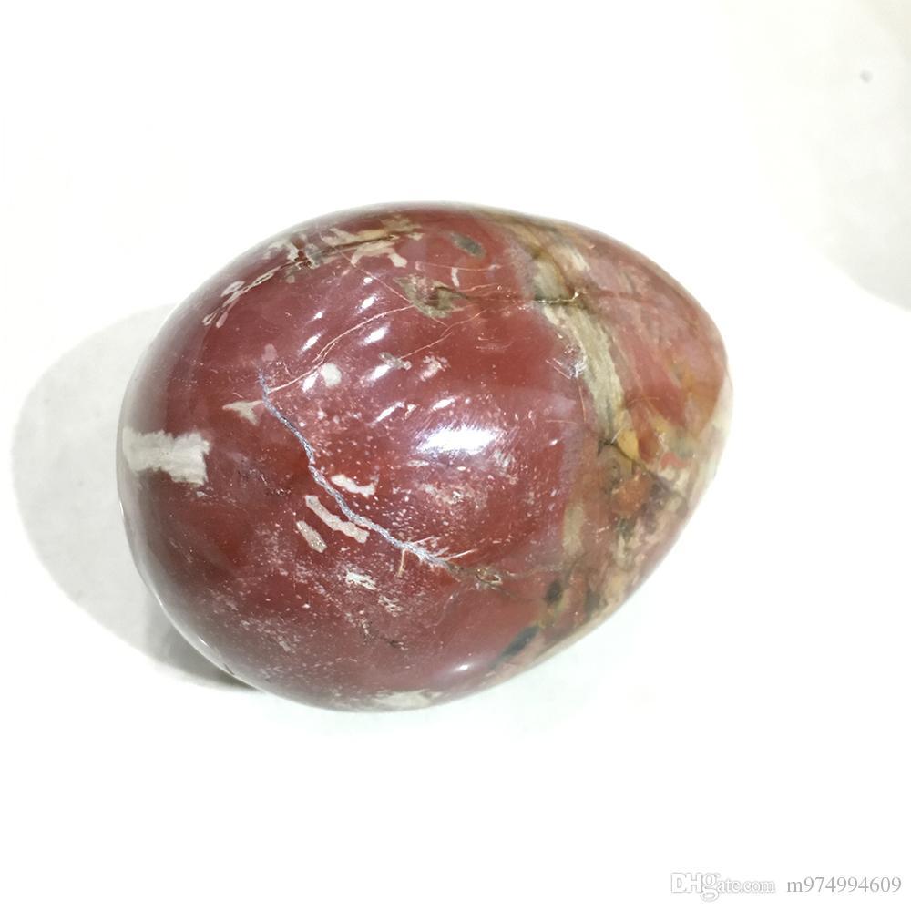 Natürliches silikonisiertes Holzkristall-Yoni-Ei Kristallsteinoval Eier Heilmeditation Eier Massage Becken-Kegel-Übung Vaginalkugel