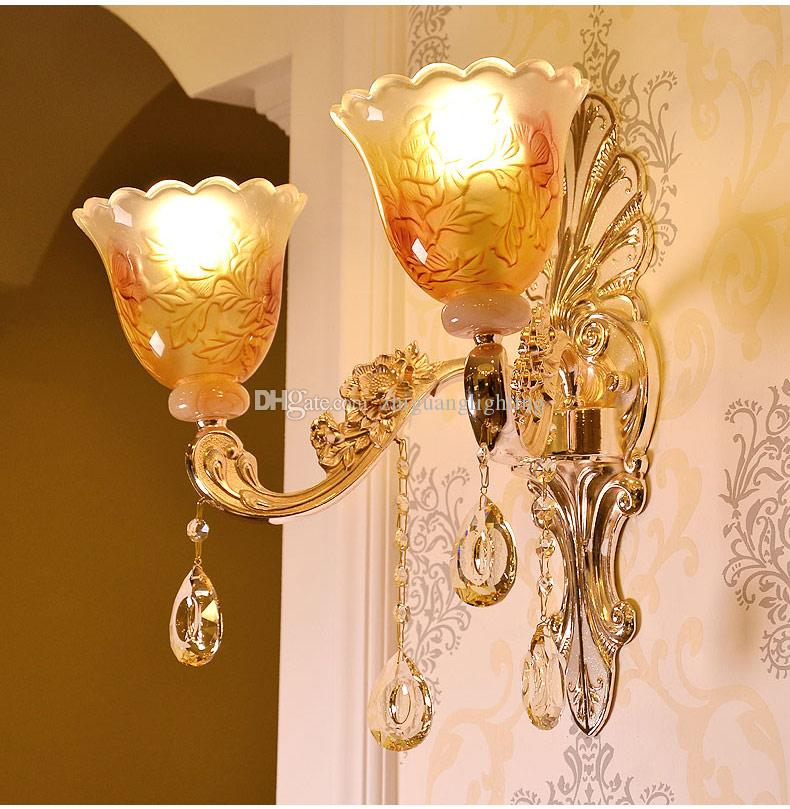 2019 Led Wall Light Gold Lamps Glass Wall Lamp Vintage Bathroom Light  Fixtures Wall Sconces Bedroom Lamps Bedside Lighting From Zhiguanglighting,  ...