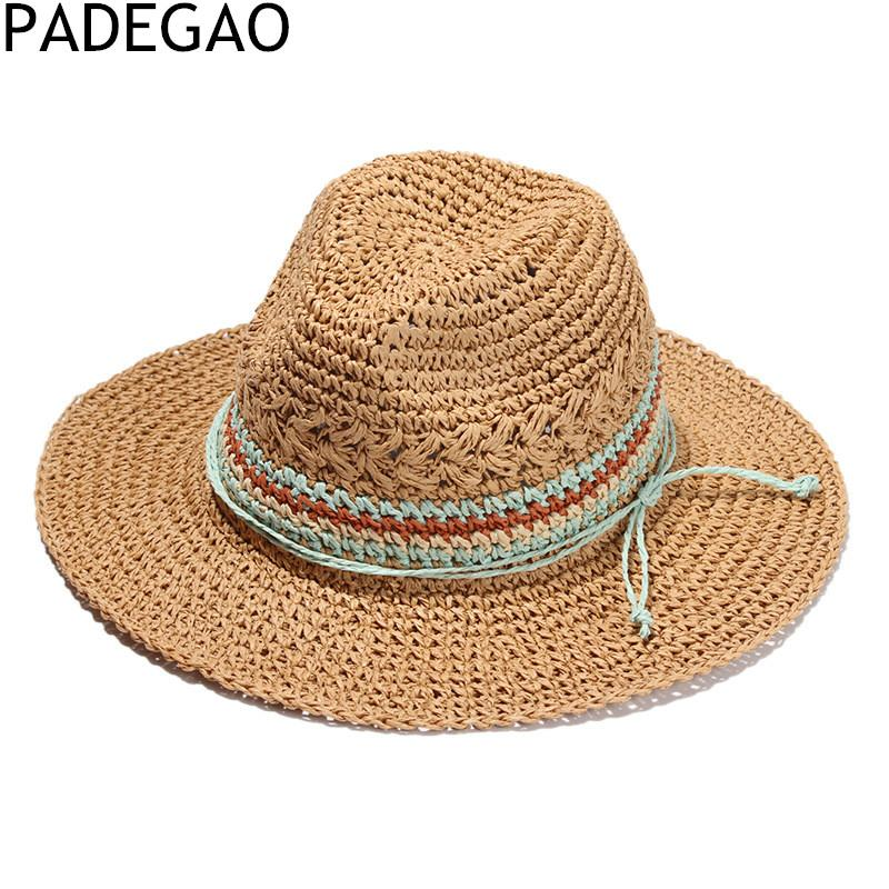 Women Straw Hats Color Hooded Jazz Straw Hat Outdoor Casual Hats For Travel  Boater Hat Fascinator Hats From Ekkk 34c514f1cdf