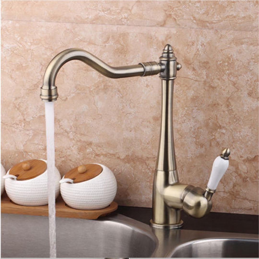 2019 Xueqin Deck Mounted Antique Copper Bathroom Basin Faucet