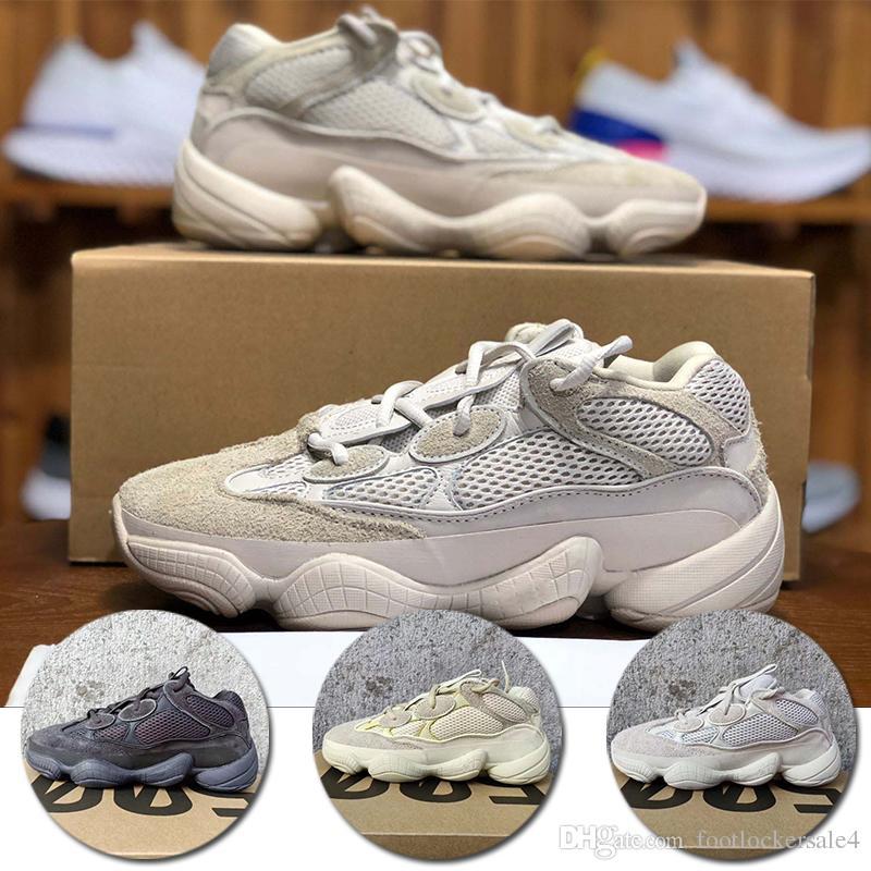 3d7421f9bb09 2018 New Blush KANYE 500 Kanye Sneakers Desert Rat 500 Mens Running ...