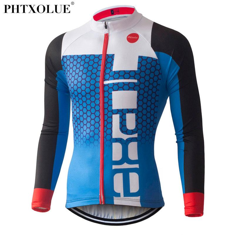 PHTXOLUE Pro Cycling Jerseys 2017 Long Sleeve Mountain Bike Clothing ... 4efb74fae