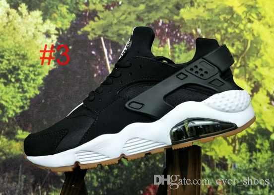 2018 New Color Huarache ID Custom Running Shoes For Men navy blue tan Air Huaraches Sneakers Designer Huraches Brand Hurache Trainers