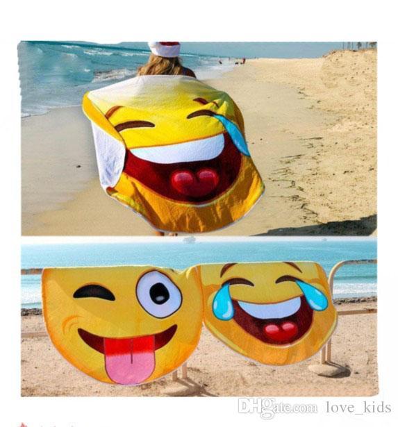 2019 Emoji Qq Expression Beach Towel Picnic Blanket