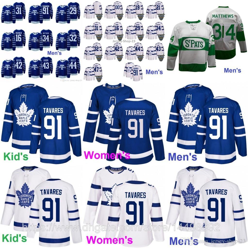 2019 Mens Womens Youths Toronto Maple Leafs 91 John 34 Auston Matthews 16  Mitch Marner 29 William Nylander Stadium Series ST Pats Jerseys From Jersey  Shop ... dc6828b6e