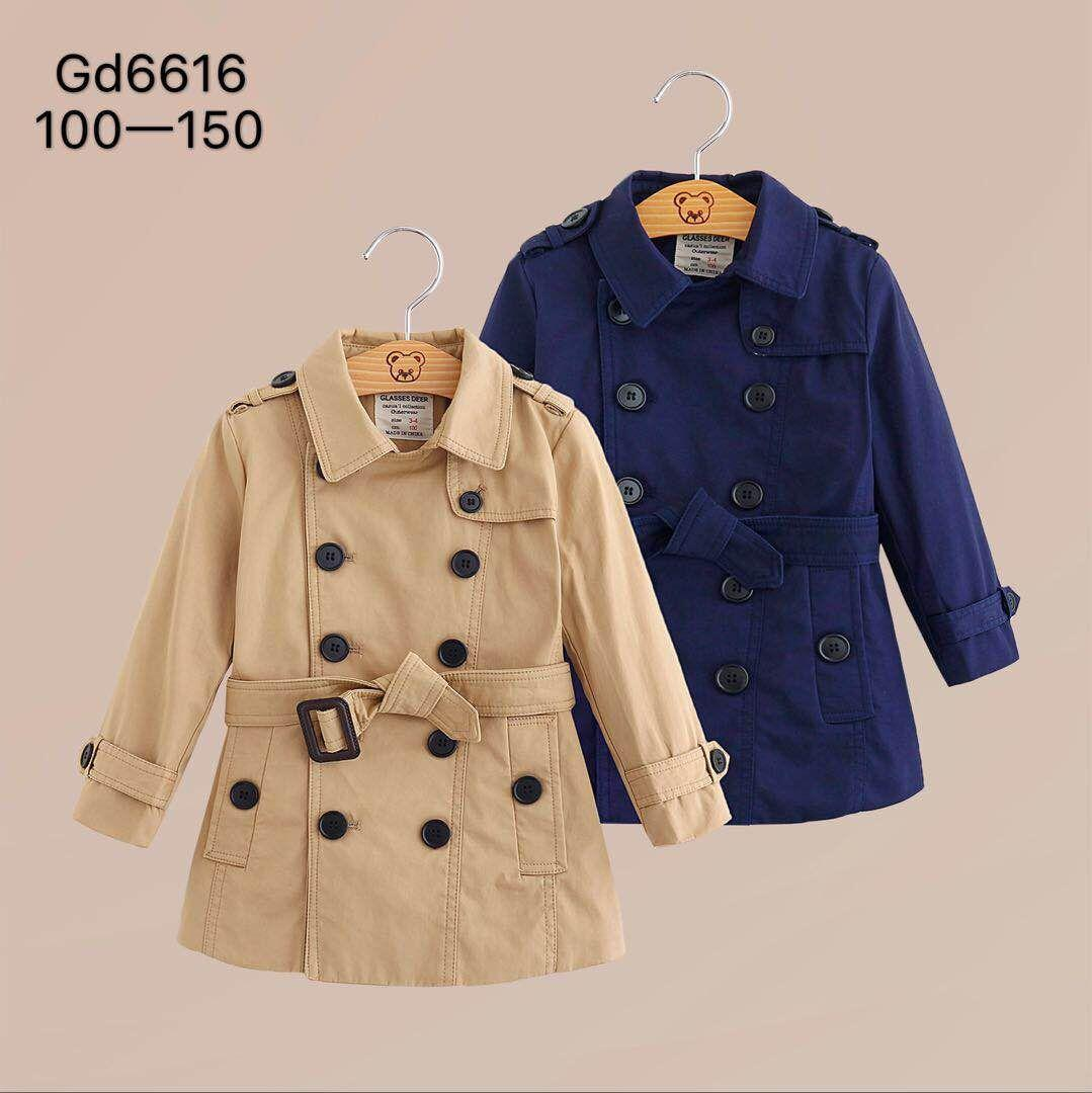 1f801d501 2018 Autumn And Winter New Boys And Girls Double-breasted European ...