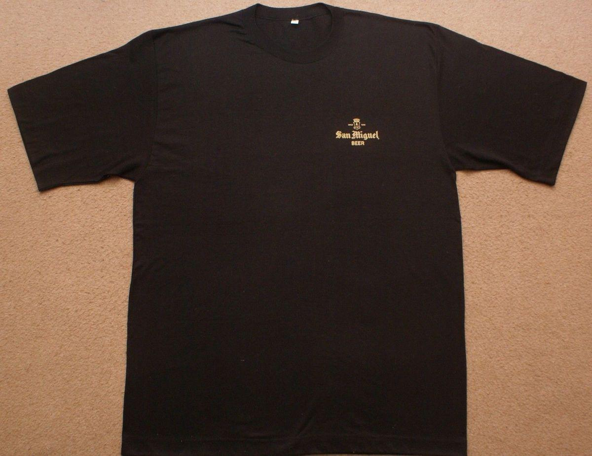 San Miguel Beer Philippines Brewery T Shirt Black Big Size 4xl New