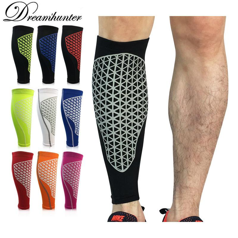 084ef4cdee 2019 Men Running Basketball Calf Leg Brace Support Leg Pads Shin Guards  Compression Calf Sleeves Football Volleyball Sport Safety From Marchnice,  ...