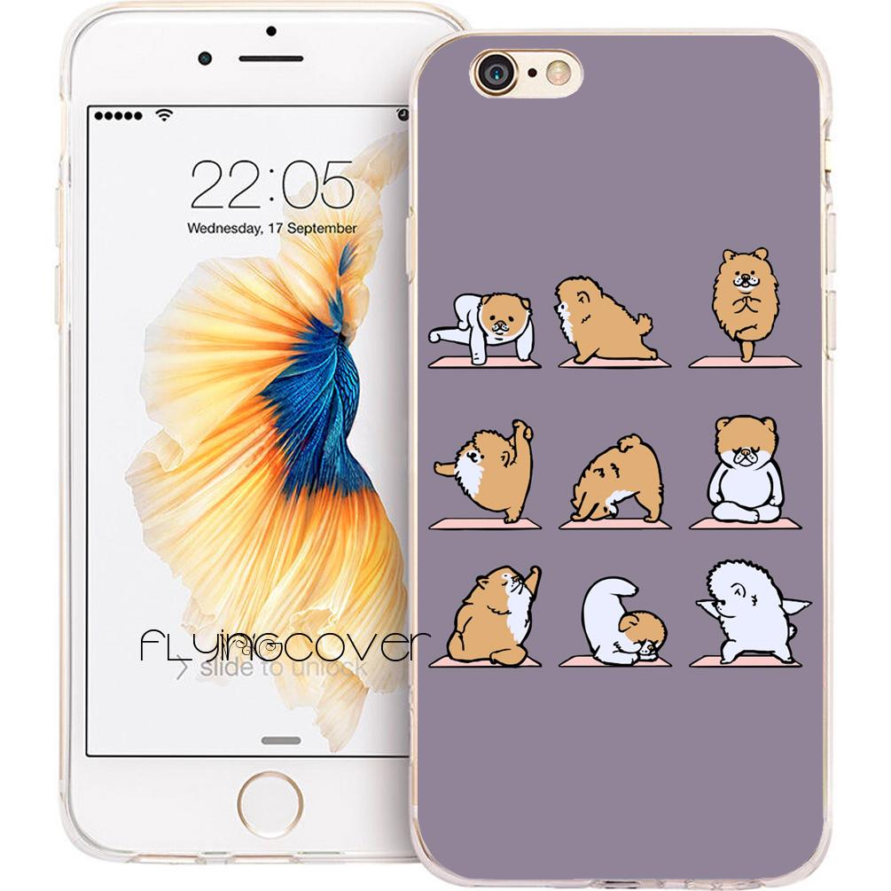 02ef2060e Coque Funny Pomeranian Yoga Clear Soft TPU Silicone Phone Cover For IPhone  X 7 8 Plus 5S 5 SE 6 6S Plus 5C 4S 4 IPod Touch 6 5 Cases. Cell Phone ...