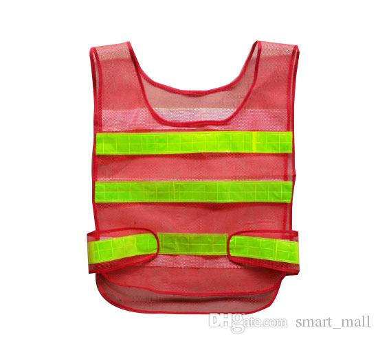 Safety Clothing Reflective Vest Hollow grid vest high visibility Warning safety working Construction Traffic vest LLFA