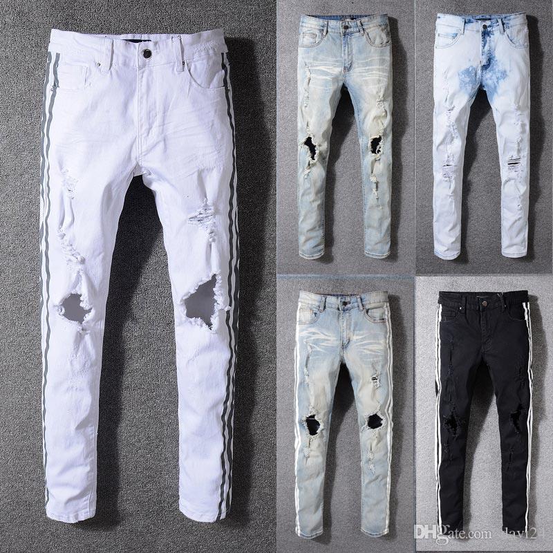Acheter Nouvelle Arrivée Célèbre Marque Hommes Jeans Mode Design Déchiré Jeans  Homme Plus La Taille Bonne Qualité Pantalon De  44.39 Du Davi24   Dhgate.Com ea451dd1fcdb
