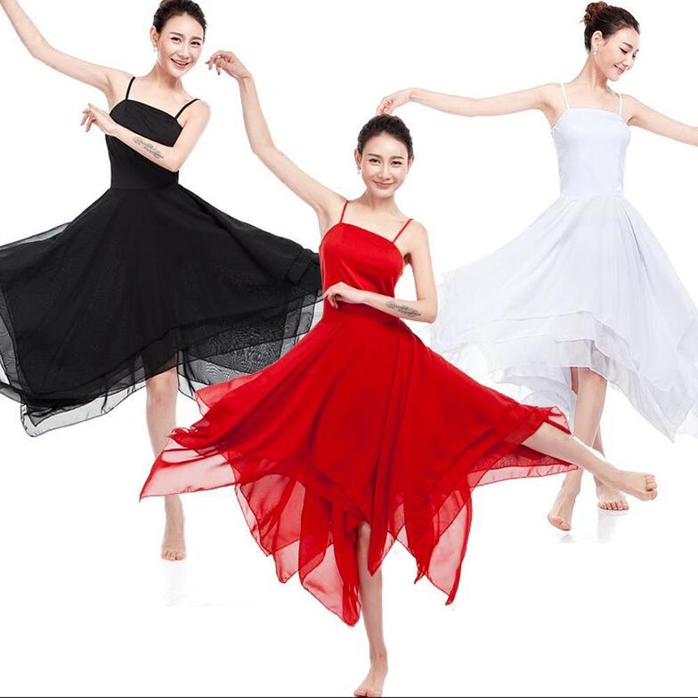 d8e74b4d7 Elegantes Lyrical Trajes de Danza Moderna trajes Mujeres Vestido de Ballet  Adultos Vestidos de Danza Contemporánea Práctica Ropa de Rendimiento
