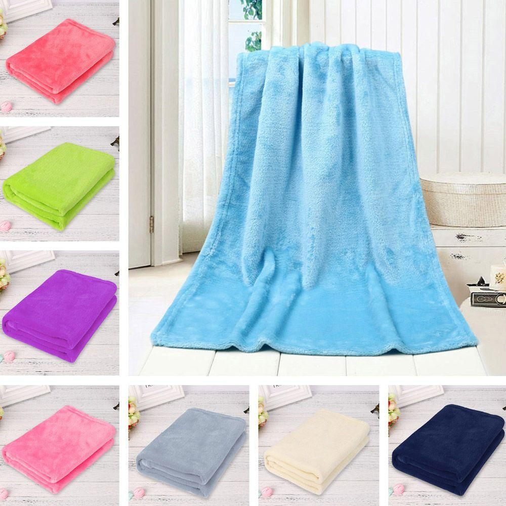 Warm Soft Home Textile Blanket Solid Color Flannel Blankets Throw On Sofa/Bed/  Travel Plaids Bedspreads Sheets Zebra Electric Blanket Teal Throw Blankets  ...