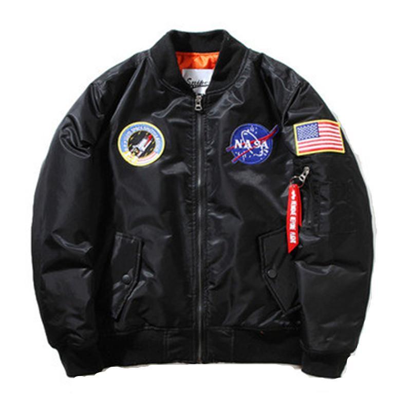d4486ed12dd39 Acquista Giacca Kanye West Jacket NASA Uomo MA1 Bomber Insignia USAF Hip  Hop Sport Giacca A Vento Maschile Bandiera Primavera Uomo Sezione Sottile  Giacca A ...