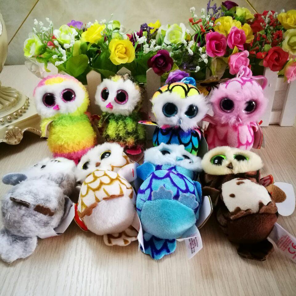 4824e894966 Compre TY BEANIE BOOS Colección 1 UNID 9 CM Pinky Owl Swoops Búho Sammy  Clip Colgante De Peluches Animales De Peluche Bolsa De Juguetes A  20.11  Del Namenew ...