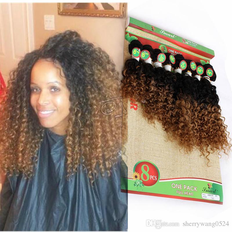 9b50025876b3d7 Malaysian Kinky Curly Short Hair Weave Full Head Jerry Curl Hair Extensions  Curly Hair Weave Bundles Natural Color 1B 27 30 Burgundy Fashion Hair ...