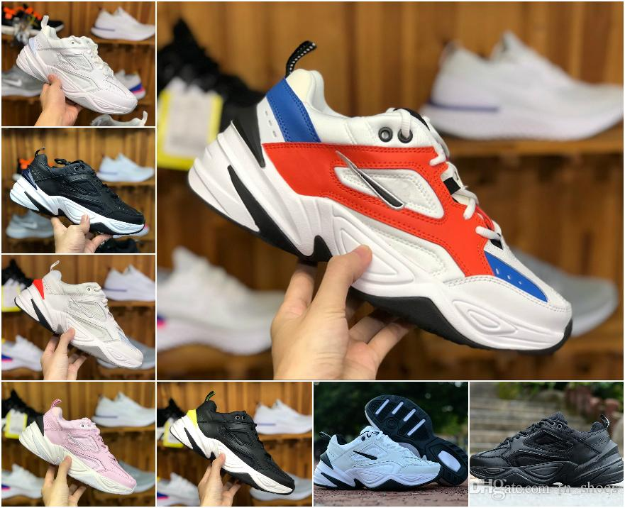 749d20abaf95 2018 NEW Air Monarch The M2K Tekno Dad Sports Running Shoes Off Top Quality  Women Mens Designer Zapatillas White Sports Trainers Sneakers Good Running  Shoes ...