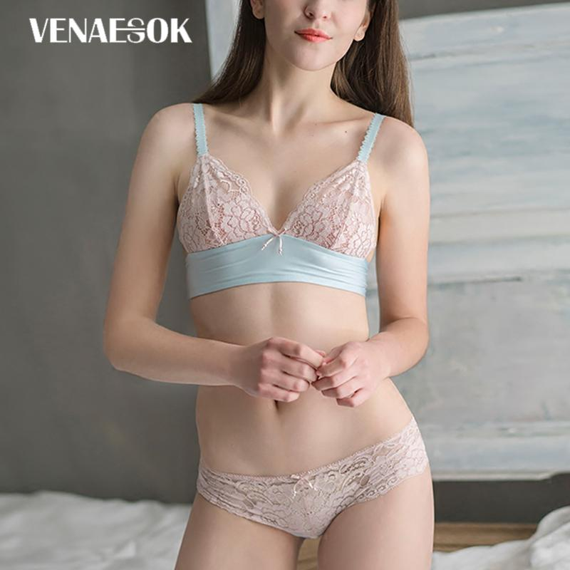 00b254f2b5 2019 Seamless Pink Bra And Panties Set Sexy Embroidery Brassiere Plus Size  XL L M Bras Lace Lingerie Women Underwear Sets Transparent From  Clothesg090