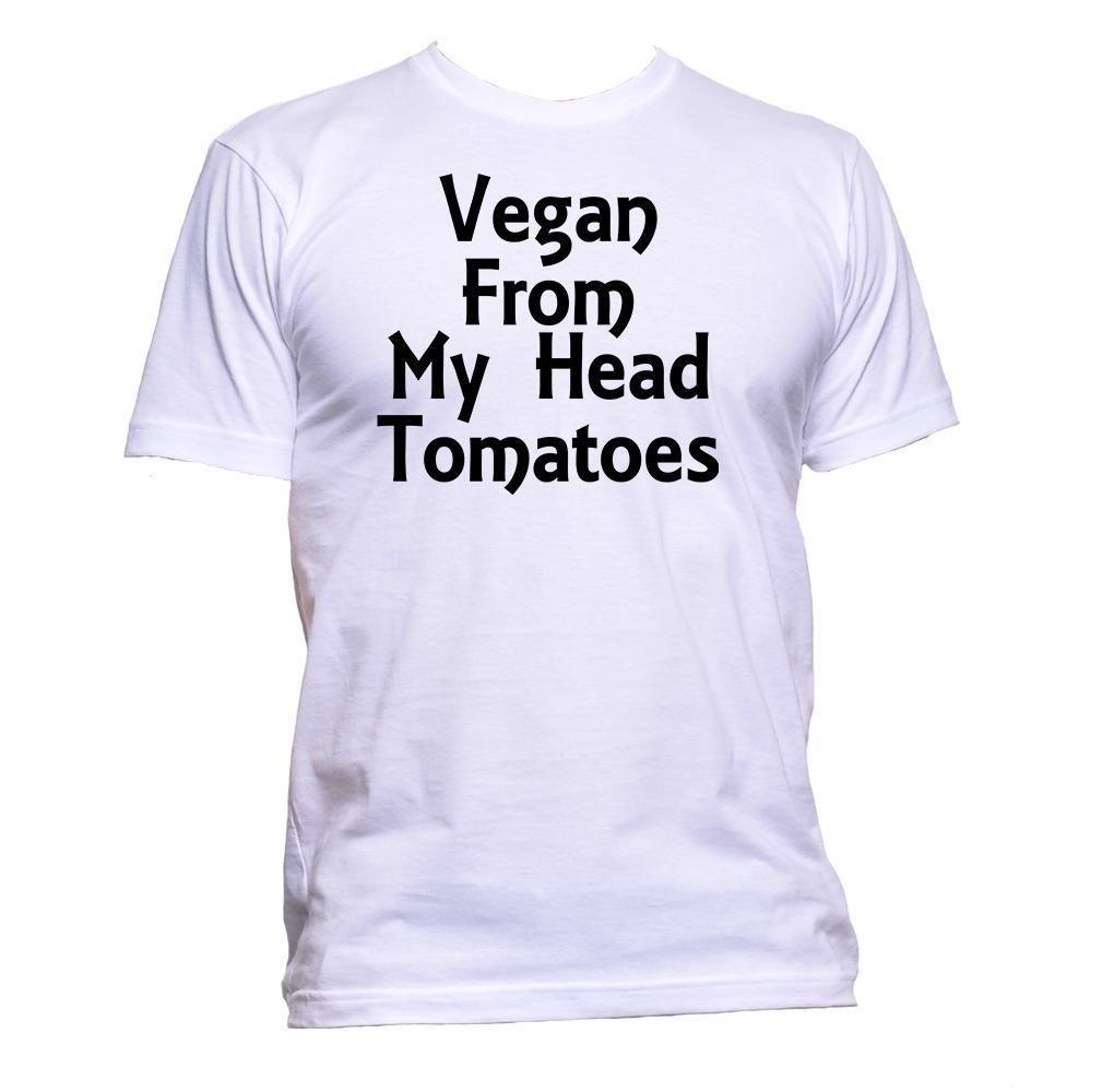 Compre Vegan From My Head Tomatoes Camiseta Vegetariana Para Mujer Para  Hombre Unisex Fashion Comedy A  11.01 Del Flairmerchan  53bbbf6124e
