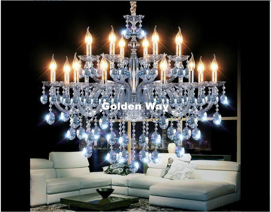 Kristall Kronleuchter Günstig Kaufen ~ Großhandel moderne art deco kronleuchter himmelblau farbe