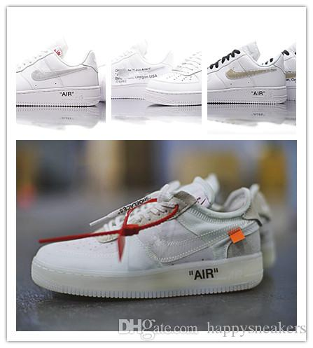 ebe5d983124 Acheter Off Air Forced 1 Low Shoes Couleur Blanche Homme Femme Baskets