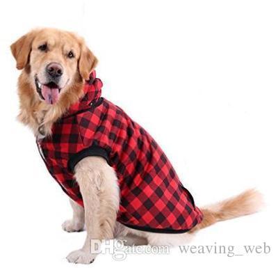 6b47aca4fc73 Compre Manta Para Perros Abrigo A Cuadros Abrigo Para Perros Perros Ropa De  Invierno Cálido Hebilla De Tela Moda Reversible Perro Chaqueta Elástica A  $6.72 ...
