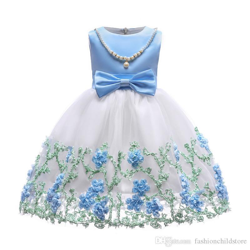 5aa659e39bea6 Satın Al Çocuklar Kızlar Zarif Düğün Çiçek Kız Elbise Prenses Parti Pageant  Örgün Uzun Kolsuz Dantel Elbise Cadılar Bayramı Elbiseler, $22.1 |  DHgate.Com'da