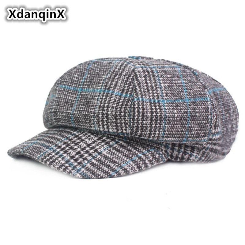 Compre Gorra De Mujer XdanqinX Nuevo Estilo Británico Boinas Retro Para  Mujeres Sombreros De Visera Vintage Tocados Para Mujeres Otoño Sombrero De  Invierno ... e03a261b318