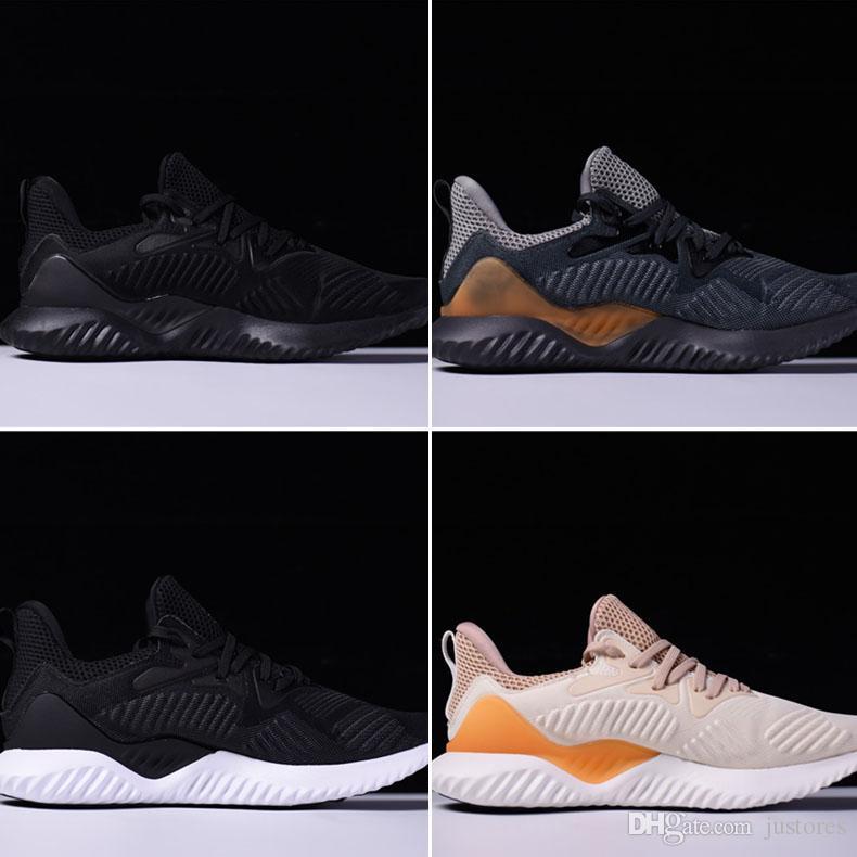 4b1592cd0 ... top quality new originals alphabounce hpc ams 3m sneaker mens running  shoes triple black orange raci