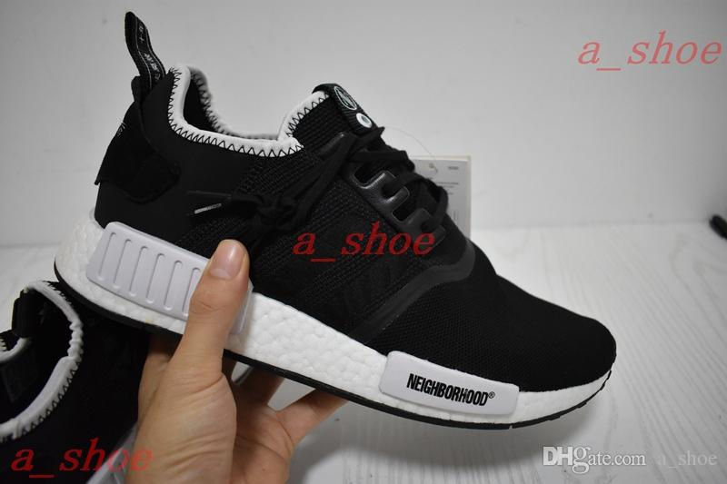 6be16ed60454b INVINCIBLE X NEIGHBORHOOD X NMD Wens Womens Running Shoes NMD R1 INVINCIBLE  NEIGHBORHOOD Platform Shoes Hiking Shoes From A shoe