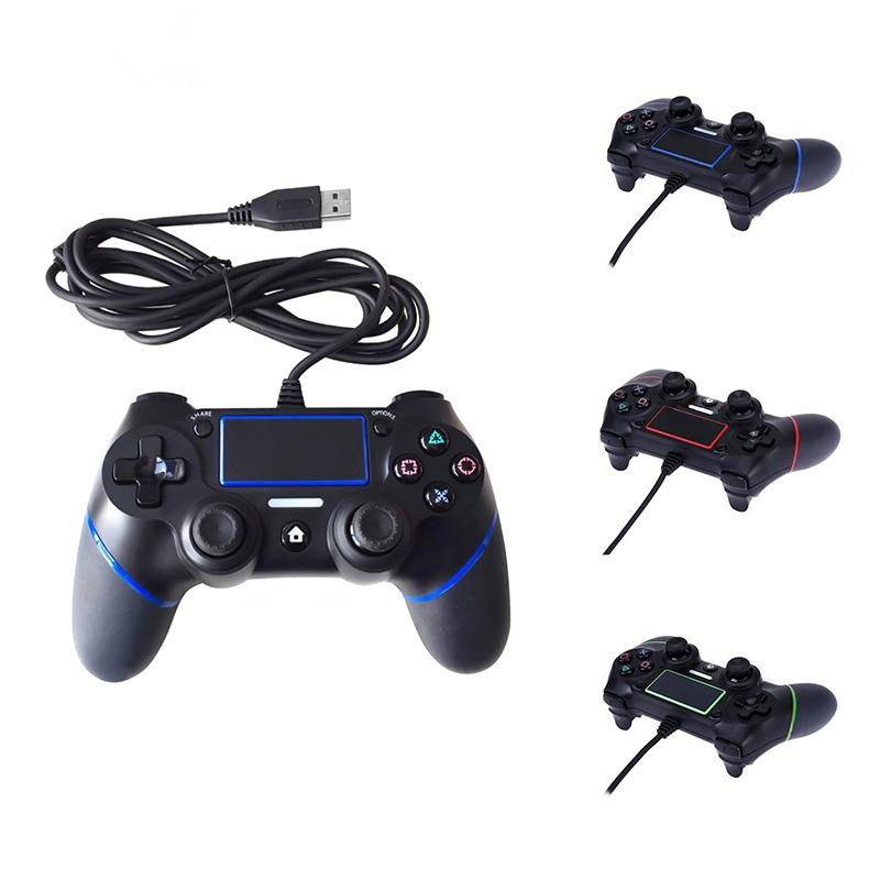 2018 New PS4 USB Wired Controllers Gamepads for PS4 Game Controller  Vibration Wired Joystick for PlayStation 4 Console Handle Gamepads