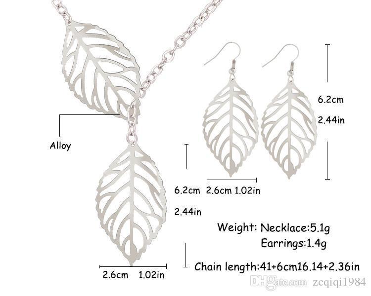 Orecchino di moda coreano Calda moda all'ingrosso gioielli metallo vuoto foglie penzoloni dichiarazione lunga orecchini di goccia le donne bijoux