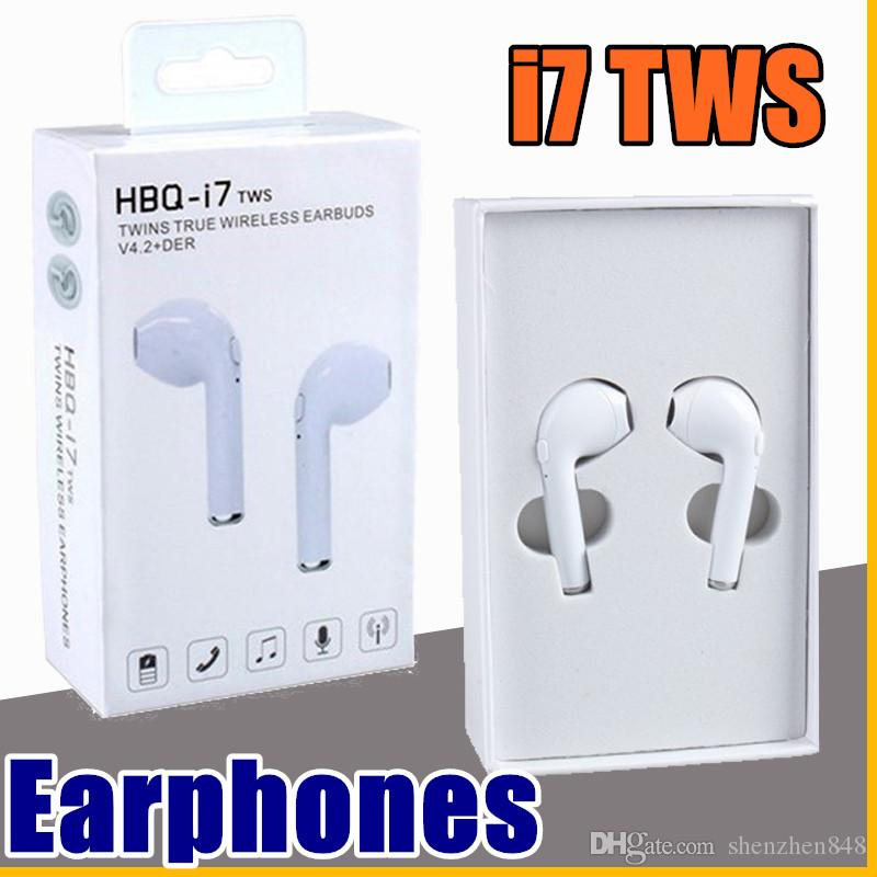 8563cdb6a66 New Arrival HBQ I7 TWS Twins True Wireless Earbuds Mini Bluetooth V4.2 DER  Stereo Headset Sports Headphone For IPhone 7 Galaxy S8 Bluetooth Headsets  ...