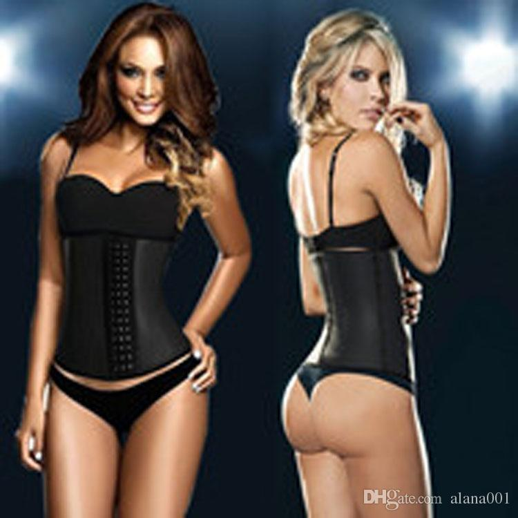5fadecdda2be5 2019 9 Steel Bone Latex Rubber Corset Body Shaper Waist Trainer Training  Corsets Corset Latex Corset Latex Waist CincherSlimming Shapewear From  Alana001