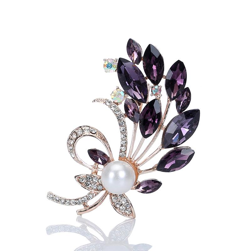 965a2f34132 2019 Multi Color Crystal Flower Brooches Rhinestone Brooch Pin Fashion Jewelry  Coat Dress Corsage Bijouterie Broches Gift From Desertrose, $20.3 | DHgate.