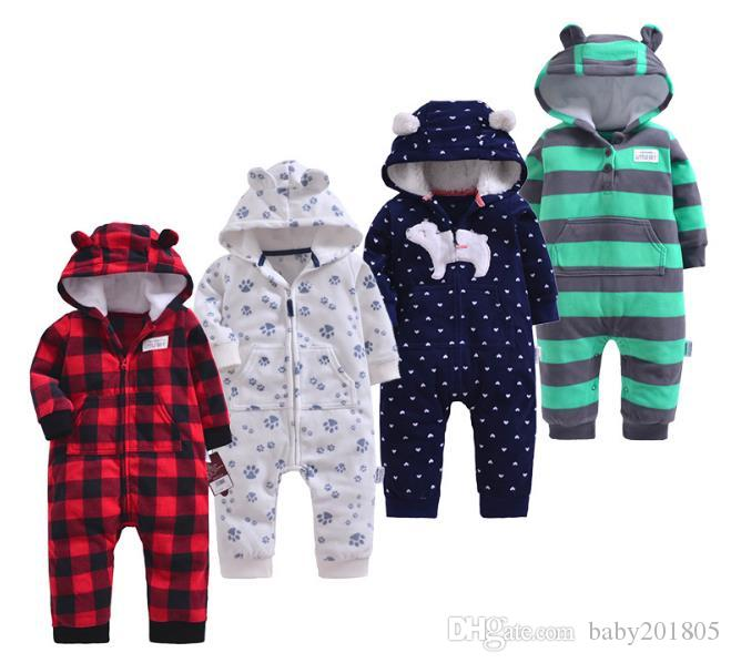 dbd8266f3 2019 2018 Spring Autumn Spring Baby Rompers Soft Baby Boys Romper Warm Fleece  Jumpsuit For Kids Newborn Boys Costumes From Baby201805, $14.58 | DHgate.Com