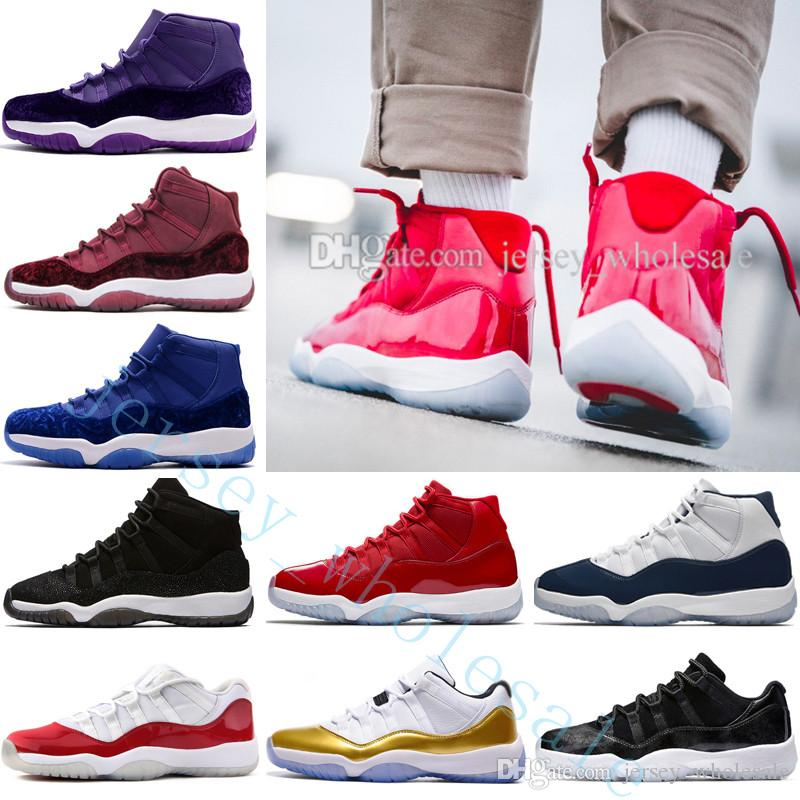 big sale c36e0 20563 Win Like 86 96 gym red 11 11s Gym Red Midnight Navy 11 Basketball Shoes  wholesale Athletic Sneakers Sports Trainers designer Outdoor shoes