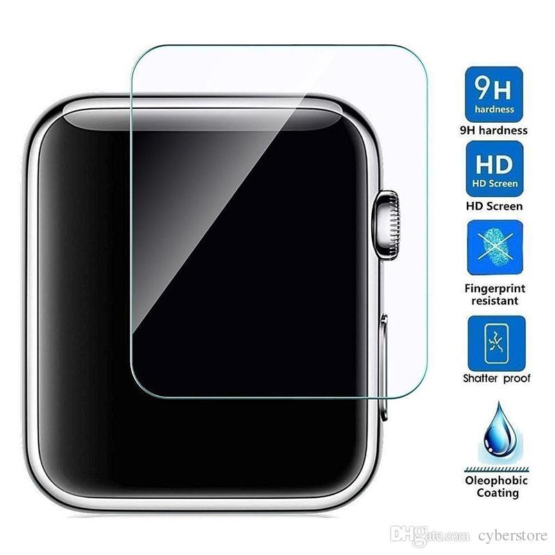 Pour Apple Watch iWatch 0.2mm 2.5D 9H Protecteur D'écran En Verre Trempé Flim 44MM 38MM LCD Avec Paquet Retal