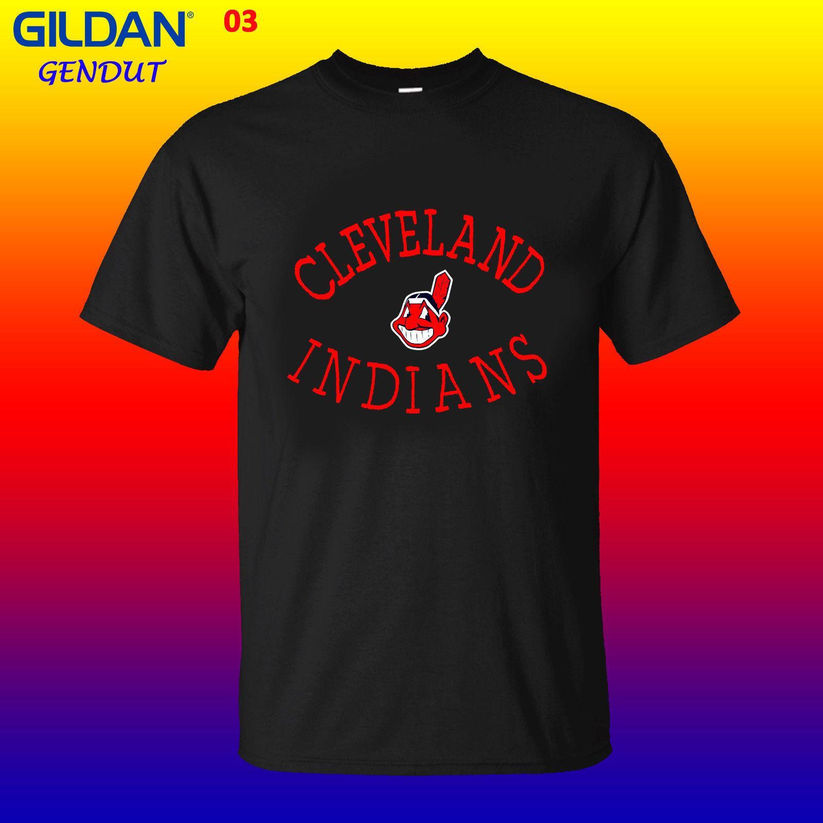 403731d5 New Chief Wahoo Cleveland Indians Tshirt Mens Cloting S 2XL 2018 Short  Sleeve T Shirt Men Fashion Brand Design 100% Make Your Own Tee Shirt Design  Crazy T ...