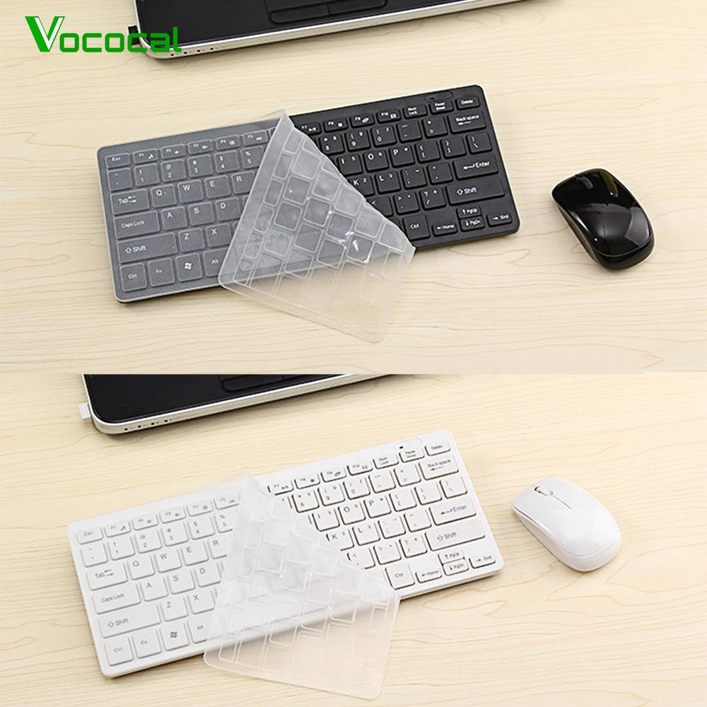 Vococal Ultra Slim Silent Wireless 2.4GHz Mini tastiera e mouse Set w / Ricevitore Bluetooth USB per PC Laptop Tablet Android TV