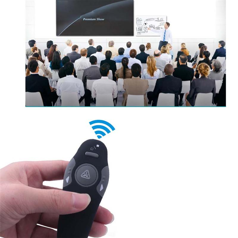 2.4GHz Wireless Presenter Red Laser Pointers Pen USB Receiver RF Remote Control Page Turn PPT Powerpoint Presentation