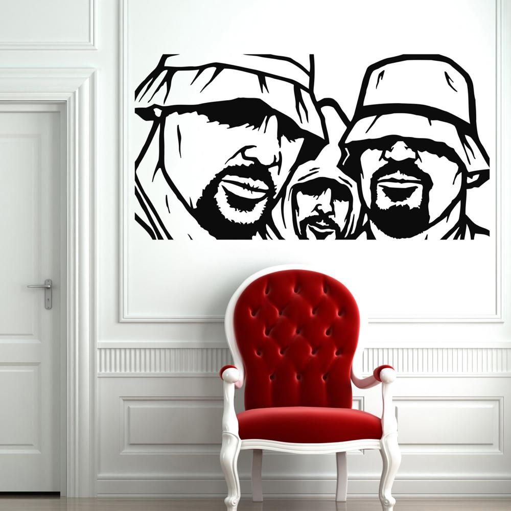 Creative Rappers Rap Music Wall Stickers For Kids Rooms Wall Decals Living Room Home Decor