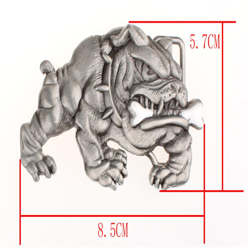 Fashion New Men's belt metal buckle belts angry Bulldog head Street Dance accessories hip hop waistband novel belt for women