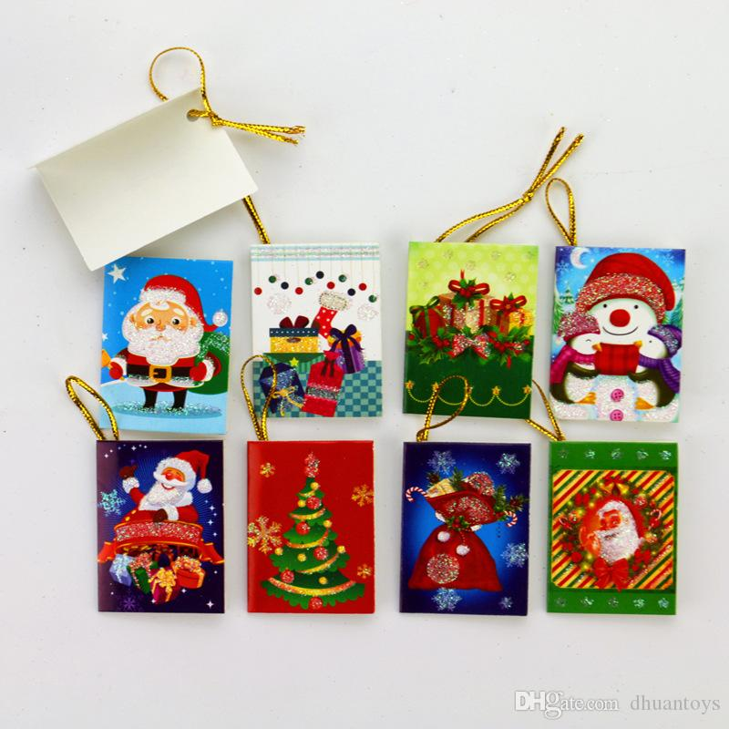 Mini Santa Claus Cartoon Christmas Card Folding Handmade Greeting