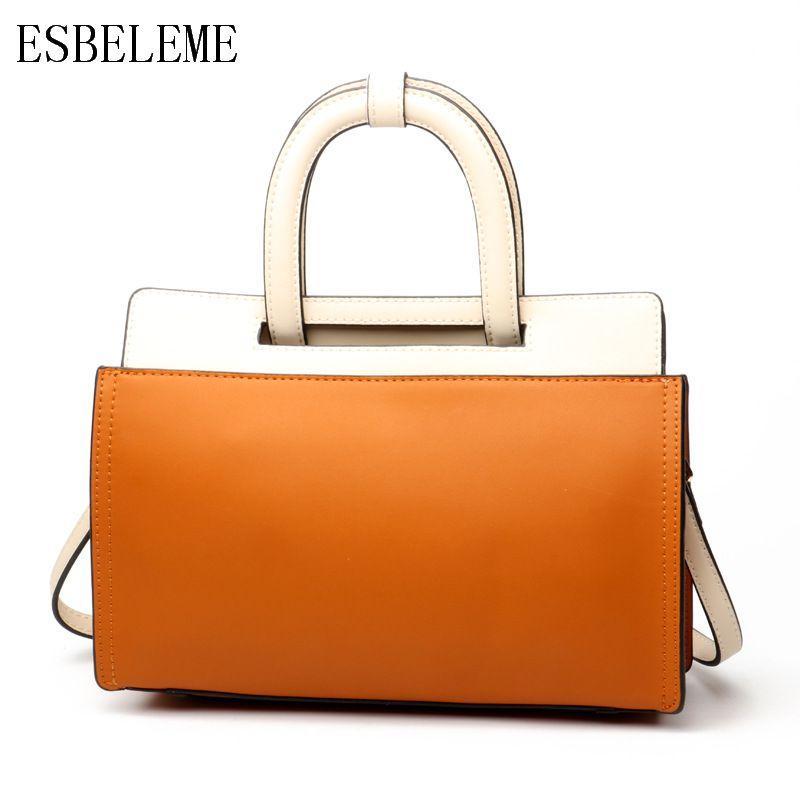 67c0bce0447d Luxury Top Grade Genuine Leather Women Handle Bags for Female Black ...